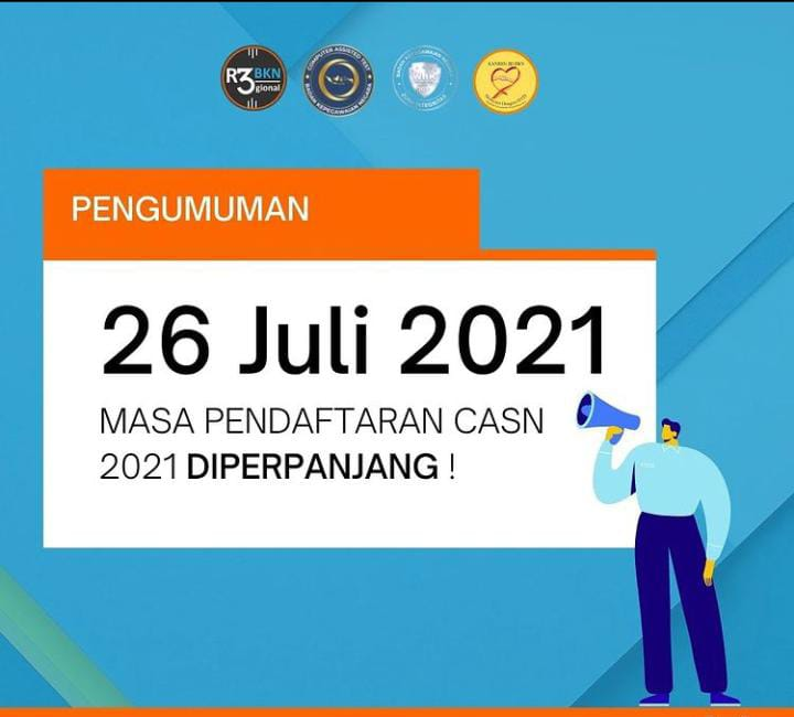 Perpanjangan Masa Pendaftaran Seleksi CPNS dan PPPK Tahun 2021